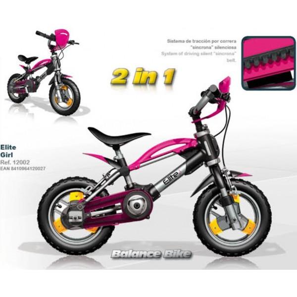 Bicicleta Injusa 2 in 1 Elite roz